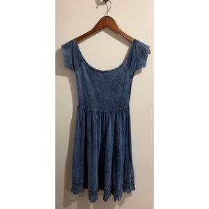ASOS denim colored off the shoulder dress size 0